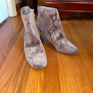 Zigi soho velvet patterned booties